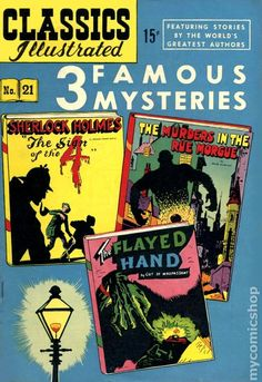 Classics Illustrated 021 3 Famous Mysteries (1944)