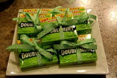 Two Peas in a Pod twins baby shower - double mint gum favors