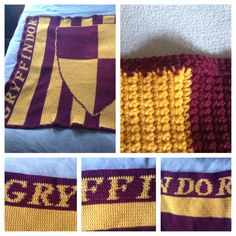 Harry Potter Inspired Gryffindor Crochet Blanket by RepurposedJoy, $50.00