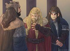 King Thror artwork   ... Oakenshield, son of Thrain, son of Thror, king under the Mountain