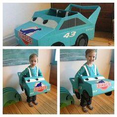 Lightning McQueen Cardboard Car