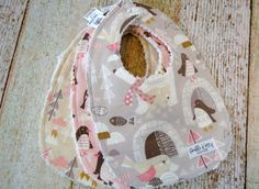 Such a cute arctic woodland bib set for all the little baby girls out there. This super trendy baby girl bib set would make a great complimentary gift to any winter woodland themed baby girl nursery.