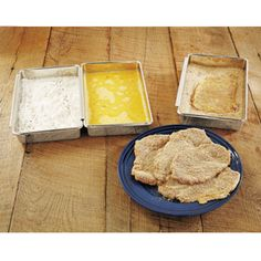 CHEFS Stainless-Steel Breading Trays, Set of 3 | CHEFScatalog.com