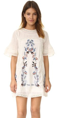Free People Perfectly Victorian Embroidered Mini Dress | SHOPBOP