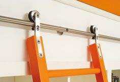 Library Ladder Hardware - more modern than the hardware on my library ladder.