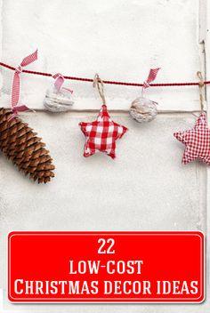 22 Low Cost Christmas Decor Ideas