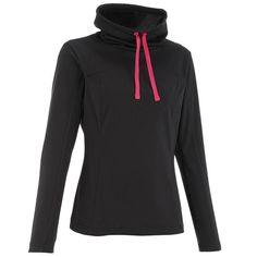 89d3913d5e3 Camiseta de manga larga de senderismo nieve mujer SH100 warm negro