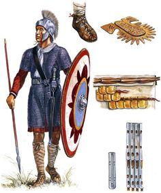 """East Roman soldier, Legio Quinta Macedonia, 5th-6th century AD"", Gerry Embleton"