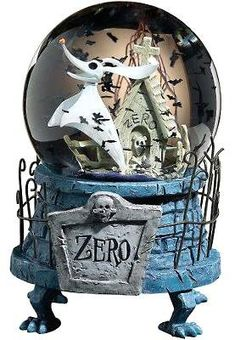 Zero musical snowglobe, with bats-shaped snow from Fantasies Come True
