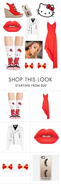 """""""Hello kitty❤️"""" by mmblovesmusic ❤ liked on Polyvore featuring Stance, Hello Kitty, Alice + Olivia, Yves Saint Laurent, Lime Crime, Ted Baker and Casetify"""