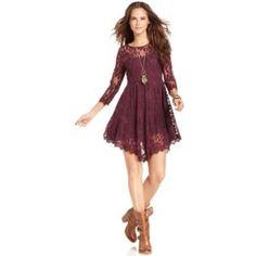 Dress Clearout! Bar Iii Lace Long Sleeve Dress