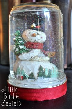 how to make snow globe,Fab Idea. Bring on the glitter!