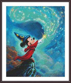 Fantasia – A Symphony of Colors – Sorcerer Mickey Donald Duck Nuts für Nuts Chip und Dale Disney Annick Biaudet Disney Pixar, Disney Micky Maus, Deco Disney, Disney Cartoons, Disney Paintings, Disney Artwork, Disney Drawings, Mickey Mouse Drawings, Arte Do Mickey Mouse