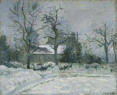 Piette's House at Montfoucault: Snow Effect -  Camille Pissarro  1874