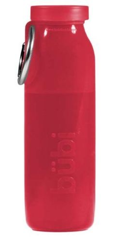 bübi bottle (Red) by bübi bottle.  This bottle collapses and folds up when it's empty.  Lots of cool colors, too!