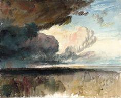 The Athenaeum - Heavy Dark Clouds (Joseph Mallord William Turner - ) Joseph Mallord William Turner, Turner Painting, Painting & Drawing, Painting Clouds, Watercolor Landscape Paintings, Abstract Landscape, Art Romantique, Turner Watercolors, Nocturne