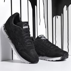 """Available now for women:  Naked x Reebok CL Leather """"Drip""""  In-store exclusively at Mt. Lawley.  AUD RRP: $150"""