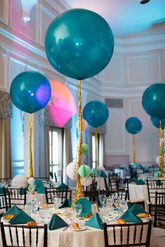 giant balloons reception