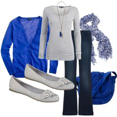 royal blue and gray on polyvore