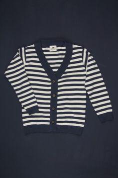 stripe baby cardigan
