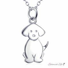 Anhänger Hund Doggy aus 925 Silber rhodiniert inkl.Kette...