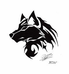 tribal wolf tattoo - Google Search