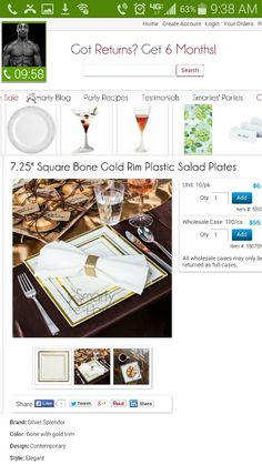 Salad plate. Set with dinner plate like this. With napkin holder.