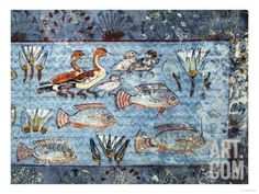 A Garden Pool; Fragment of a Wall Painting from the Tomb of Nebamun Giclee Print…