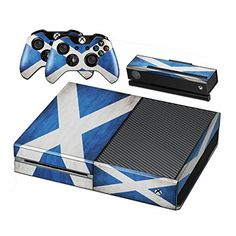 Flags Scotland 1, Skin Sticker Decal Vinyl Wrap Cover Protector with Leather Effect Laminate and Colorful Design for Xbox One for Game Console and 2 Controllers. Virano http://www.amazon.co.uk/dp/B00QX8LCDC/ref=cm_sw_r_pi_dp_ENi5vb12EXMZS