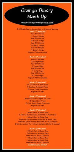 Orange theory workout