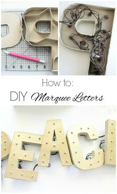 How to Make Your Own DIY Marquee Letters
