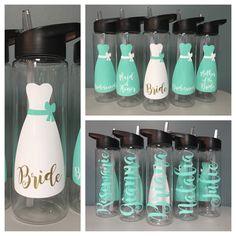 Bridesmaid Gift - Wedding Water Bottle - Bridal Party Bottles - 24 oz BPA Free Tritan Bottle - Custom Wedding Bottles - Personalized Bottle