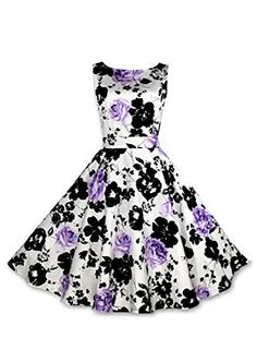 Anni Coco Women's 50s Vintage Printing Swing Dresses Purple Small Anni Coco http://www.amazon.com/dp/B00WJADEN4/ref=cm_sw_r_pi_dp_aFEovb0M51F1V