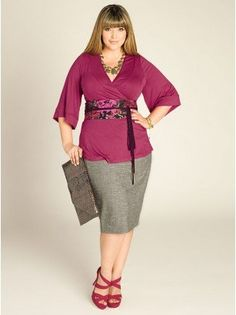 Trendy Plus Size Separates - Tops, Cardigans, Skirts, Pants by IGIGI