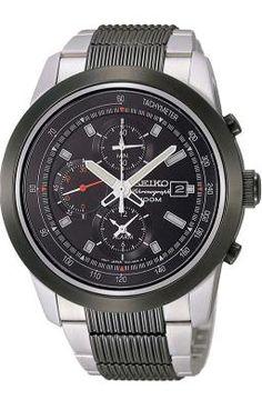 be26516ec4e Relogio de pulso masculino SEIKO 7T62BK 1 Cronografo