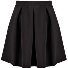 Boohoo Tianna Neon Box Pleat Skater Skirt (€7,15) ❤ liked on Polyvore featuring skirts, knee length skirts, neon skirt, knee length skater skirt, women skirts and flared skirt