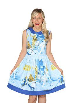 Look at this Vintage Star Wars Dress - Women by Her Universe Nerd Fashion, Star Fashion, 90s Fashion, Fashion Outfits, Star Wars Dress, Star Wars Merchandise, Dapper Day, Japanese Street Fashion, Vintage Sheets