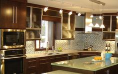 Glass Cabinet Doors, Kitchen, Table, Furniture, Design, Home Decor, Cooking, Decoration Home, Room Decor