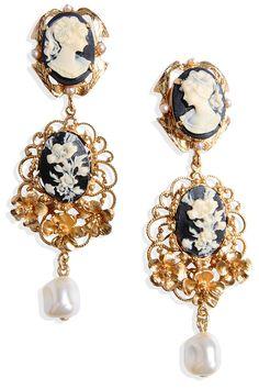 Dolce & Gabbana earrings, $975, shopBAZAAR.com.   - HarpersBAZAAR.com