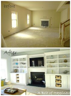 Beach Coastal Family Room Makeover