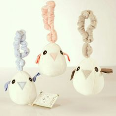 Tweet the Bird play toy bounces up and down on his hanging loop and babies love them. The perfect first baby toy. Certified organic cotton.  Head to www.maudnlil.com.au if you're looking for a baby gift