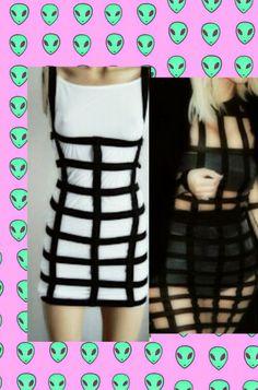βeauty in a cage Dress. Cage Dress.Elastic Dress. Pastel goth, goth,lolita,nu goth,soft grunge,BDSM,Dominatrix,Burlesque,Fairy kei,Grunge