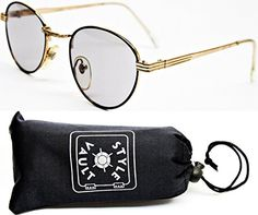 47f2666bc3f50 V3022OP Style Vault Metal 1 34 Lens Round Sunglasses 851 GoldBlackLight  Lens   Visit the image link more details. Note It is affiliate link to  Amazon.