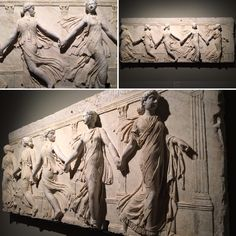 Las bailarinas Borghese. Relieve, siglo II d.C., Roma.