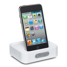 Wirelessly dock, charge and play the music from your iPod/iPhone device anywhere.