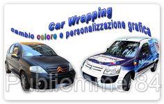 Car Wrapping decorativo per auto aziendali e cambio colore con adesivi professionali e garantiti.