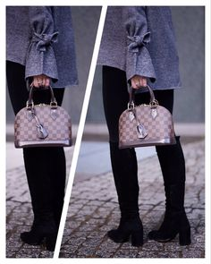 963c7f5e401 louis vuitton alma bb alma bb damier ebene knee high boots fashionblogger  Alma Bb