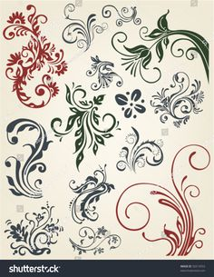 stock-vector-vintage-decoration-vector-floral-ornament-elements-50214553.jpg 1238×1600 пикс