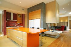 kitchen color combinations...the fireplace...WOW!
