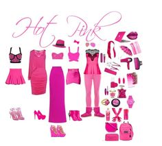 """""""Hot Pink"""" by lexisymmons on Polyvore featuring Posh Girl, Norma Kamali, Martin Grant, J.Crew, City Chic, Conair, CHI, Kendra Scott, Essie and Bond No. 9"""